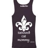 Tattooed cat mommy